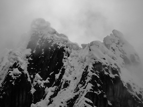 The reason not many people climb the peaks in the Huayhuash any more. Look at the cornices on that! | by Pikes On Bikes