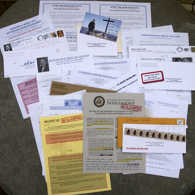 Citizens United junk mail