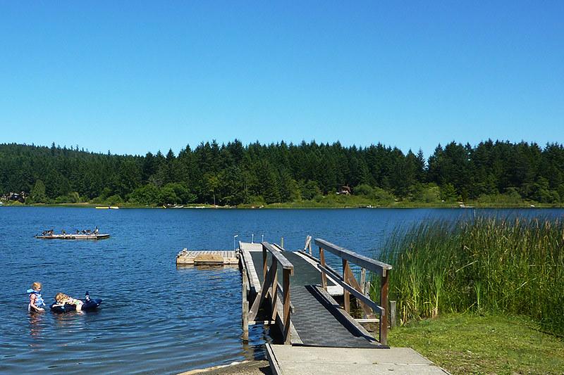 St. Mary's Lake, Saltspring Island, Gulf Islands, Georgia Strait, British Columbia, Canada