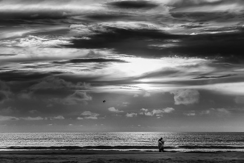 sunset bw storm love beach sunrise landscape florida daytonabeach