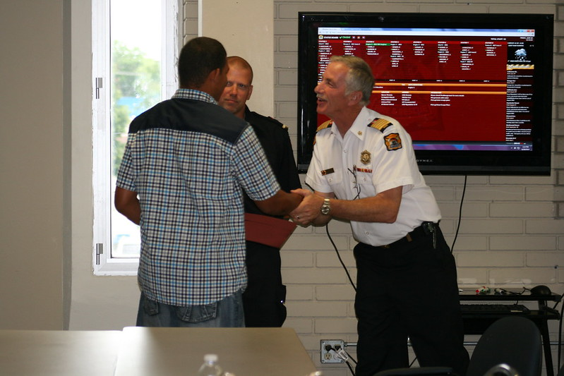 Brandon getting his Certificate from Chief Montone