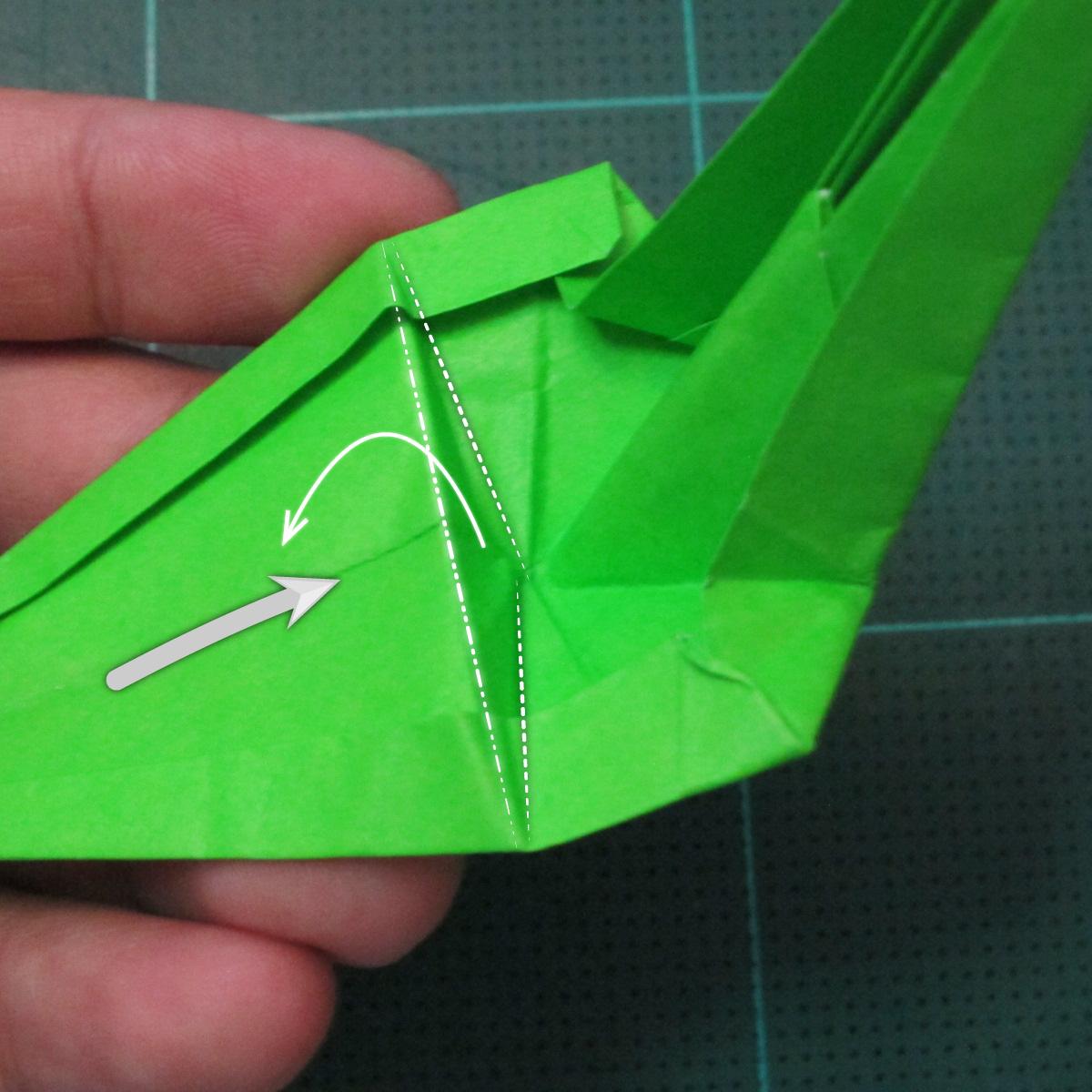 วิธีพับกระดาษเป็นรูปหอยทาก (origami Snail) 018