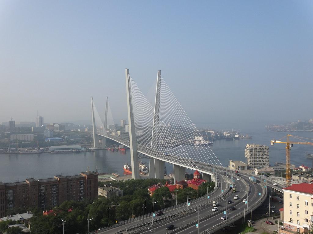 Russky Bridge Vladivostok Russia