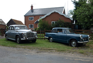 1959 Rover 90 P4 & 1969 Triumph Herald 1200 | by Spottedlaurel