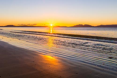 sunrise hdr dawn beach swansea tasmania australia au
