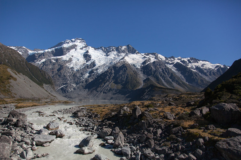 Mueller Glacier, Mount Cook National Park, New Zealand