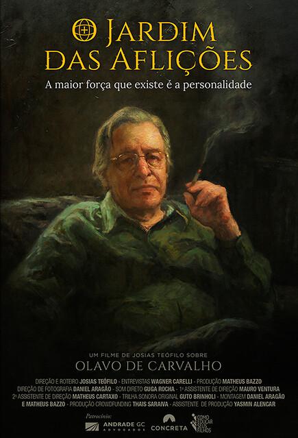 """Poster do filme """"O Jardim das Aflições"""", de Josias Teófilo"""
