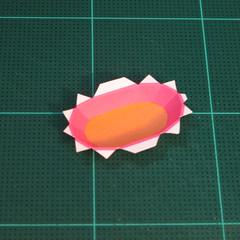 วิธีทำโมเดลกระดาษตุ้กตาคุกกี้รัน คุกกี้รสสตอเบอรี่ (LINE Cookie Run Strawberry Cookie Papercraft Model) 002