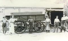 Marsh Wagon Works rear Exchange Hotel - 1906