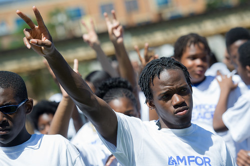 """I Am for Peace"" March by Perspectives Charter Schools"