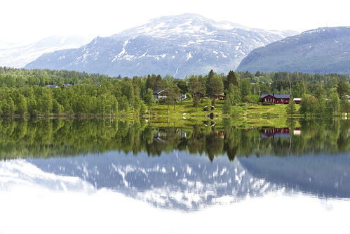 houses red house lake reflection green nature water field norway forest canon reflections landscape europe village north 100mm 6d canon6d