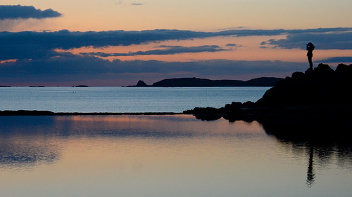 sunset sea mer france reflection water silhouette clouds brittany eau bretagne reflet saintmalo