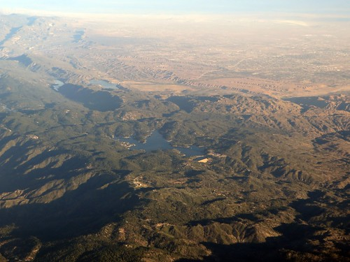 Lake Arrowhead and Silverwood Lake, California