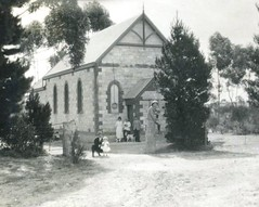M. Llewelyn W. Bevan at Sandy Creek Church c1924