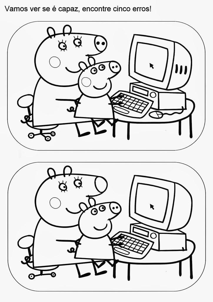 Capa Desenho Pintura 8 Desenhos Do Peppa Pig Para Colorir Flickr
