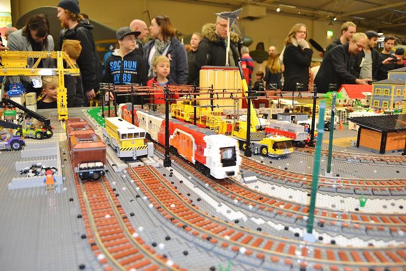 Lego utstälning flygvapen museum
