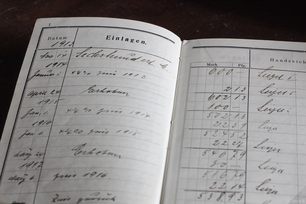 Bankbook of 1913