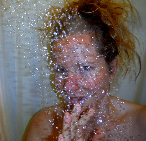 taking a shower with my camera