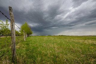 View of rain cloud, Sturgeon County, Alberta | by WherezJeff