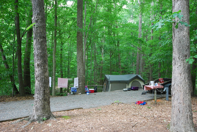 Waterfront Campsites at OC