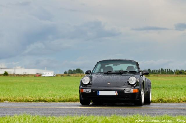 Black Porsche 911 964 Turbo 3.6 Bad Boys
