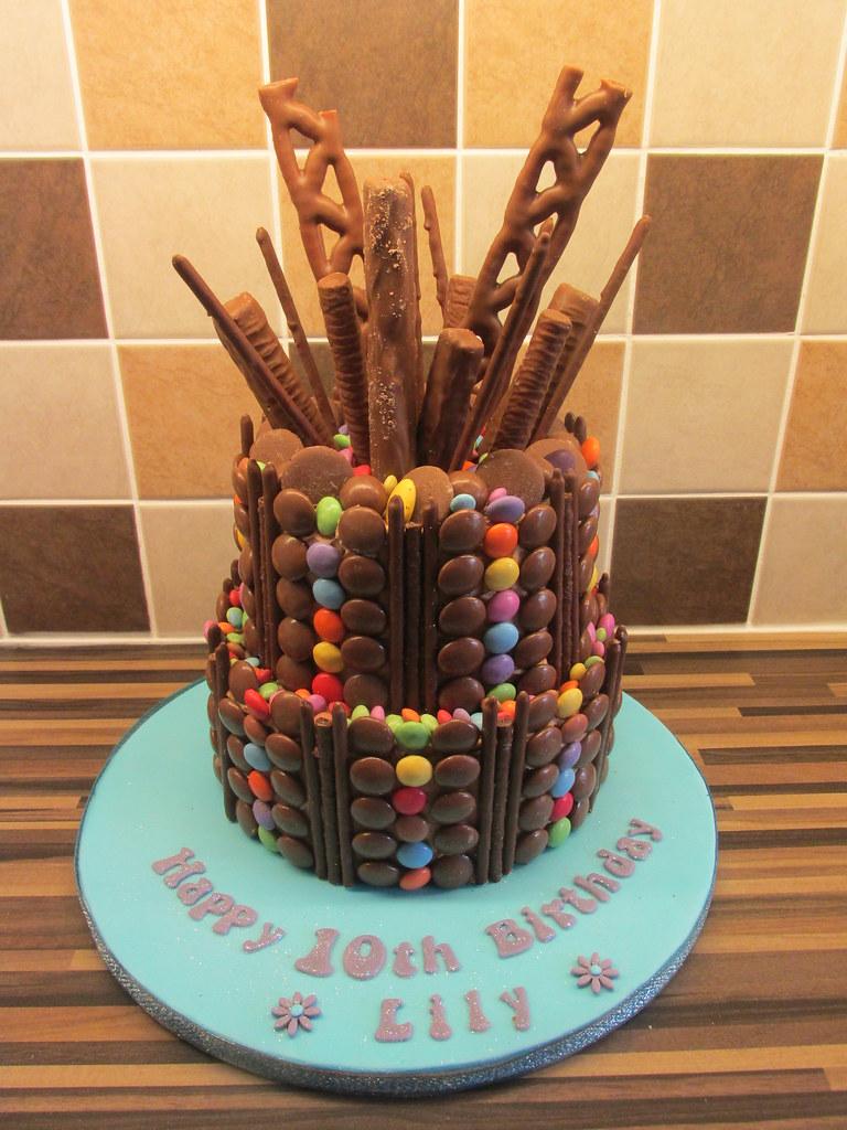 Chocolate Explosion Cake 2 Tier Chocolate Explosion Cake