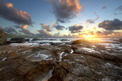 ocean sunrise island rocks atlantic shore stbarths windwardside