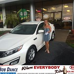 Congratulations to Abigail Long on your #Kia #Optima purchase from Jason England at Bob Dance KIA! #NewCar