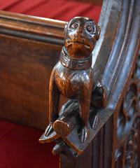 unhappy collared beast (15th Century)