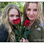 Girls with Roses in Paris