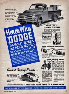 1951 Dodge Express & Panel Trucks (Canada)