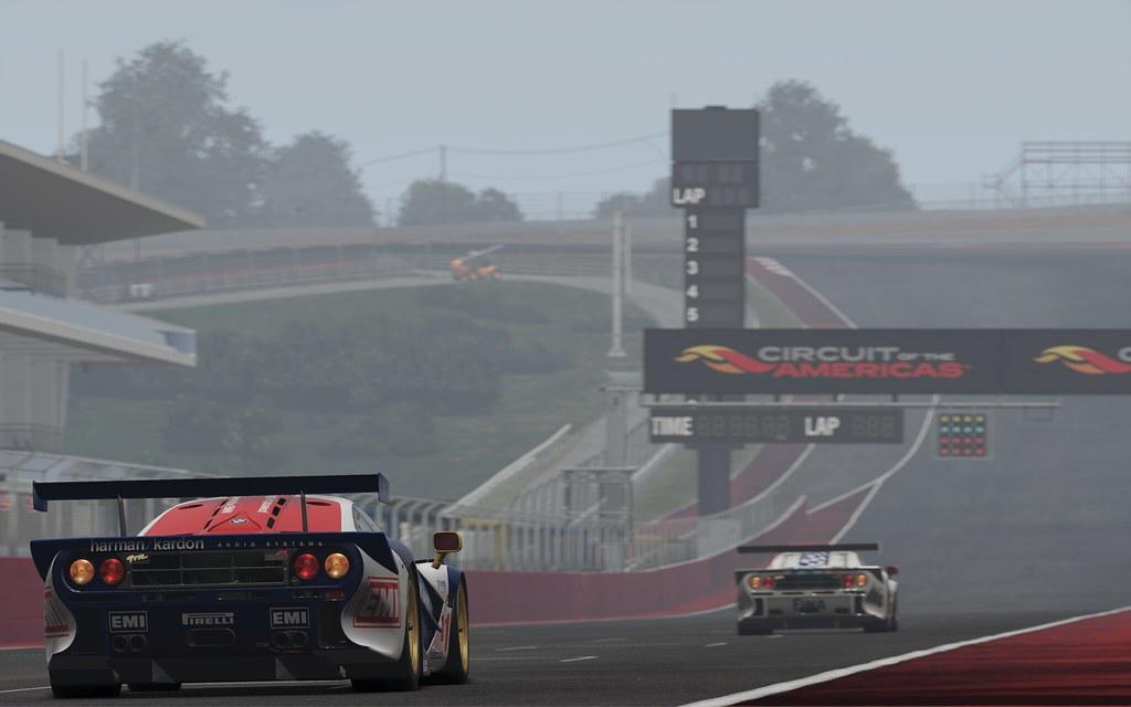 McLaren F1-GTR at COTA start-finish straight
