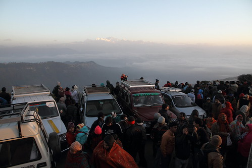 morning india sunrise crowd peak pic summit foule himalaya darjeeling inde matin leverdesoleil sommet kangchenjunga
