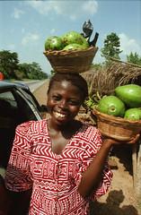 Accra to Kumasi Road Ashanti Ghana West Africa African Street Vendor April 1999 074 Advacado Street Vendor