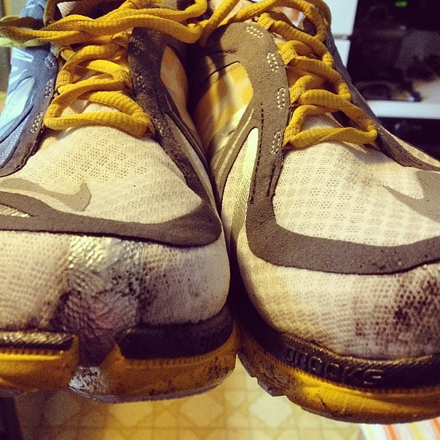 They had to get dirty sometime. #runhappy @brooksrunning