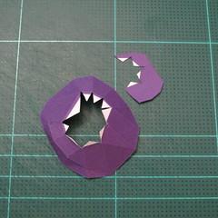 วิธีทำโมเดลกระดาษตุ้กตา คุกกี้รสราชินีสเก็ตลีลา จากเกมส์คุกกี้รัน (LINE Cookie Run Skating Queen Cookie Papercraft Model) 005