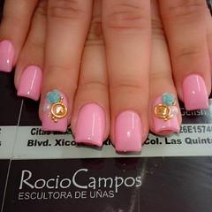 Exif Uñas Gelish Diseño Flores Estoperoles Perlas