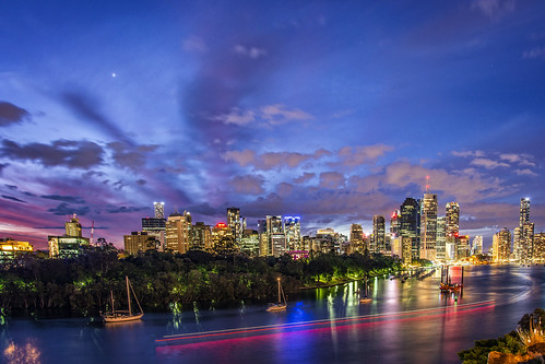 city longexposure sunset sky water night clouds boats lowlight brisbane brisbaneriver waterreflections sunsetsandsunrisesgold cloudsstormssunsetssunrises pwpartlycloudy slowshutteronwater