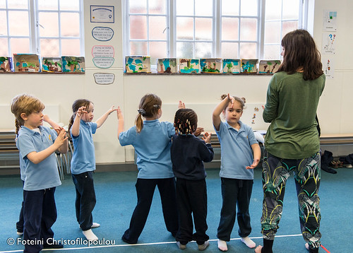 Mathematical, artistic and physical spatial exploration in a Reception class. | by mathsdance