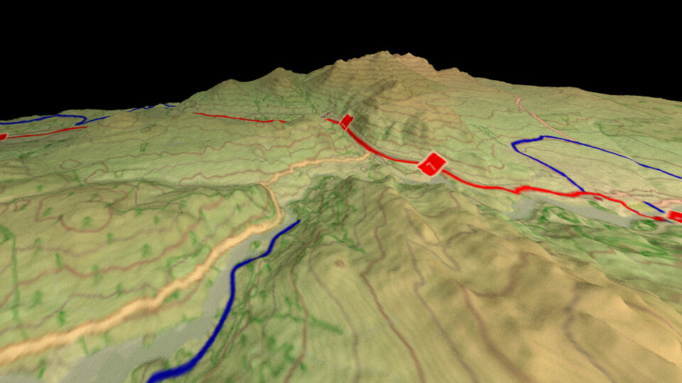 OpenCycleMap in 3D using QGIS and Blender   Example of using