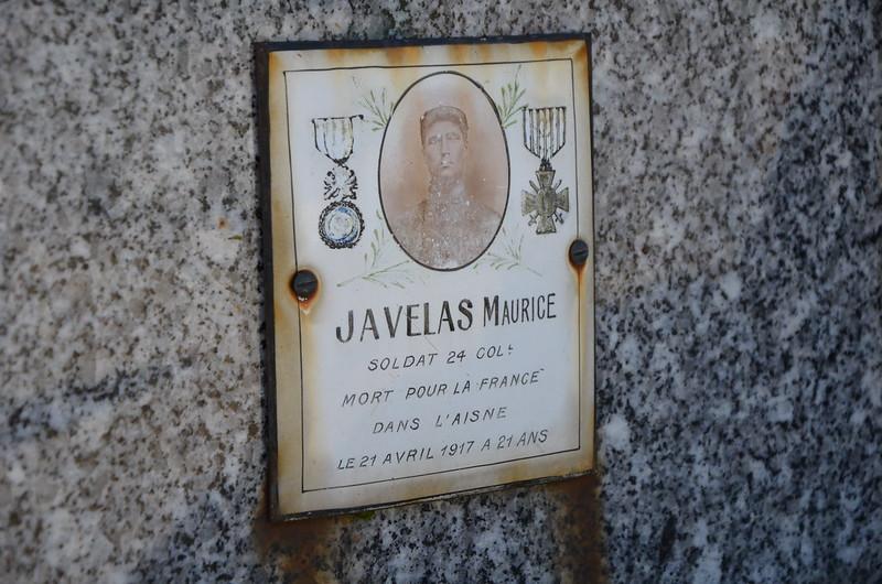 Plaque souvenir au cimetière