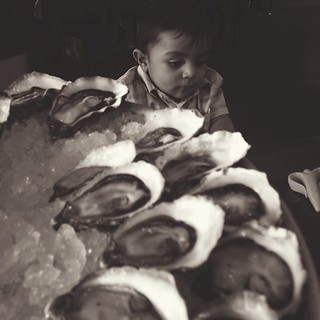 Oysters and babies. | by Club Dine In!