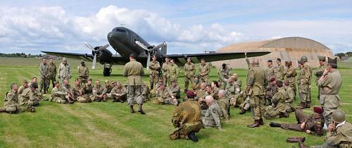 D-Day  commemoration- briefing the paratroops   by GJC1