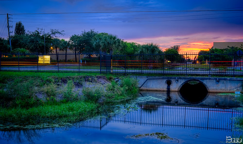 sunset water clouds canal colorful florida cloudy lantana hdr photomatix carlighttrails topazlabssoftware topazplugins