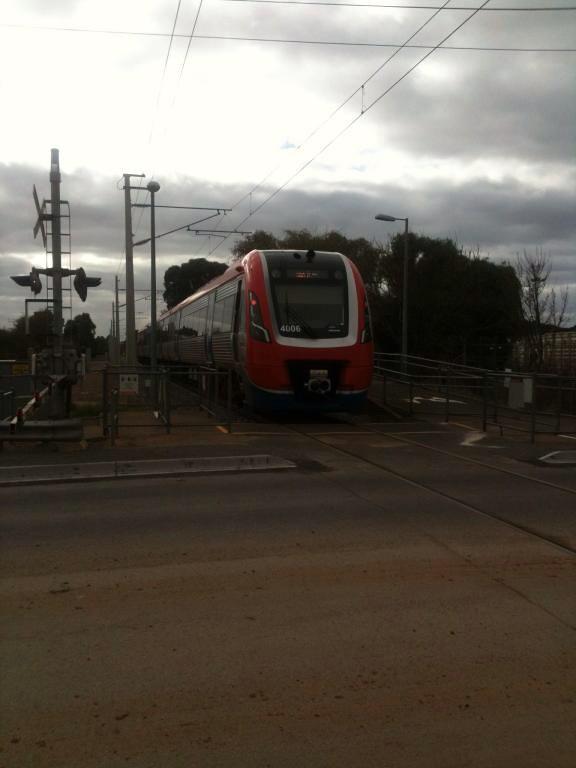 A-City 4006 at Clovelly Park Station by Tonsley