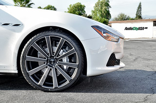 2014 Maserati Ghibli on Gianelle Santoneo matte black wheels | by www.audiocityusa.com
