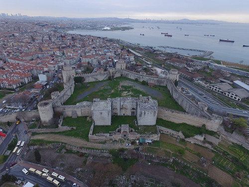 The Seven Towers Fortress (Yedikule Hisarı) from the air