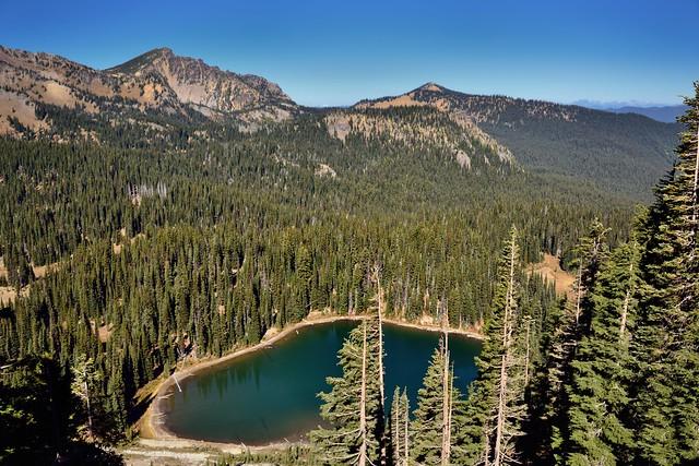 A Lake Seemingly Hidden in the Mountains (Mount Rainier National Park)