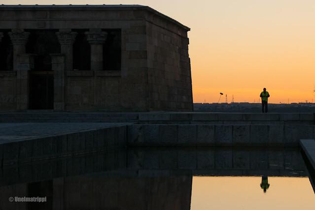 Auringonlasku Madridissa Templo de Debodilla