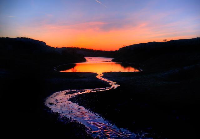 Chalkpit sunset